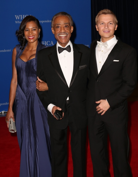 Aisha McShaw, Al Sharpton and Ronan Farrow