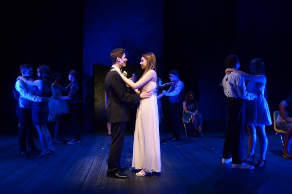 Anthony Zambito, Rachel Resheff and the CARRIE Ensemble