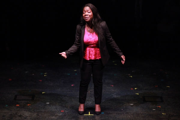 Honorable mention Atiauna Grant performing a monologue Photo