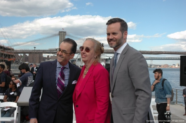 Photo Flash: Nick Lachey, Drew Lachey and More Attend Re-Dedication of Pier 15 at South Street Seaport