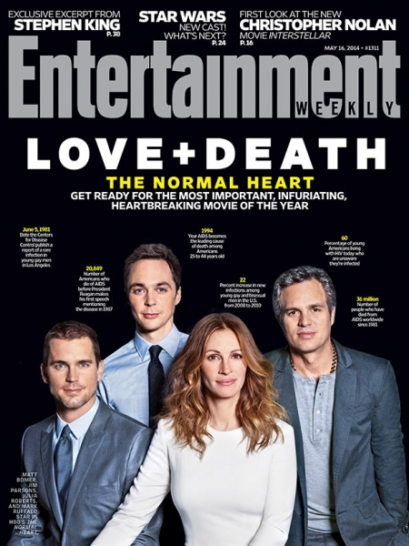 Photo Flash: The Cast of HBO'S THE NORMAL HEART on the Cover of EW