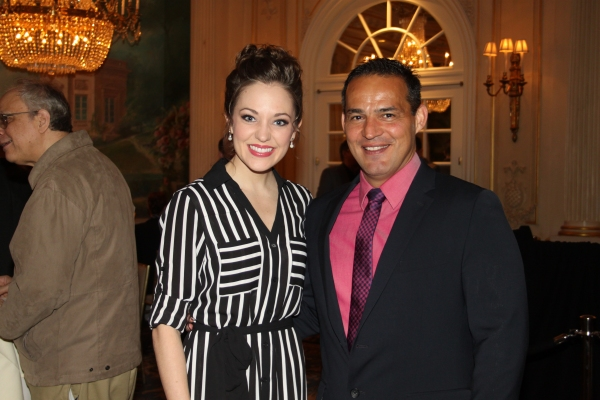 Laura Osnes and Ruben Flores