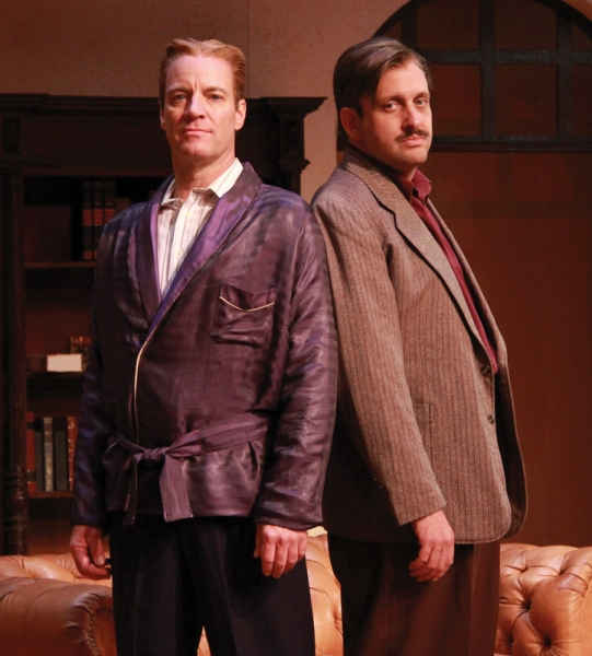 Tom Wahl as F. Scott Fitzgerald and Gregg Weiner as Ernest Hemingway