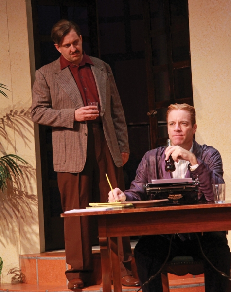 Gregg Weiner as Ernest Hemingway and Tom Wahl as F. Scott Fitzgerald