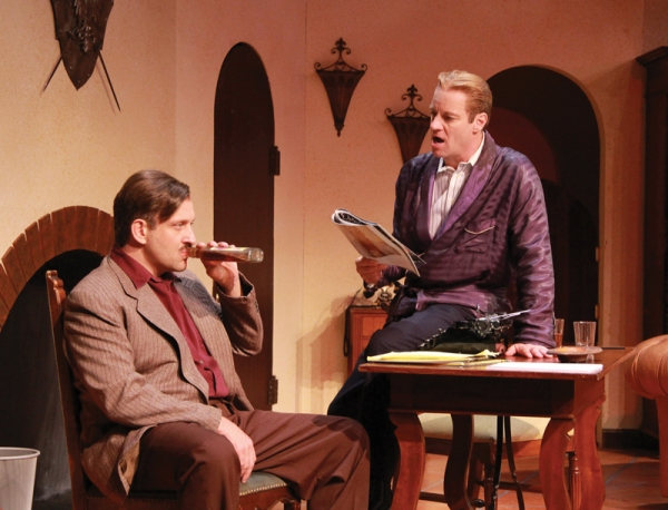 Gregg Weiner as Ernest Hemingway and Tom Wahl as F. Scott Fitzgerald Photo