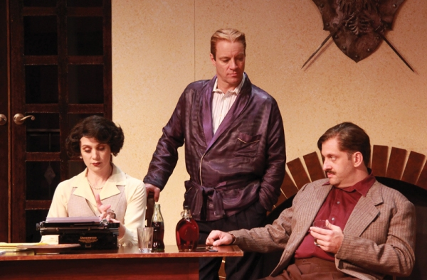 Jennifer Christa Palmer (Miss Eve Montaigne), Tom Wahl (F. Scott Fitzgerald) and Gregg Weiner (Ernest Hemingway)