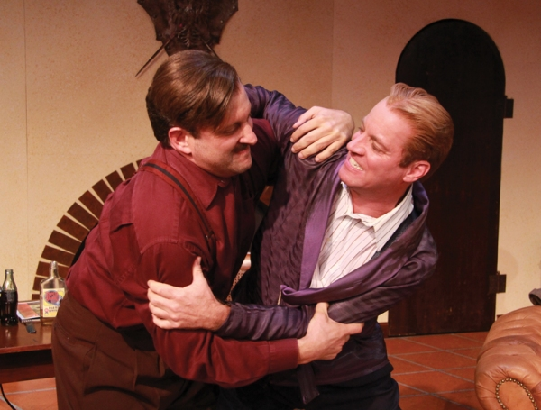 Ernest Hemingway (Gregg Weiner) and F. Scott Fitzgerald (Tom Wahl) wrestle with the s Photo
