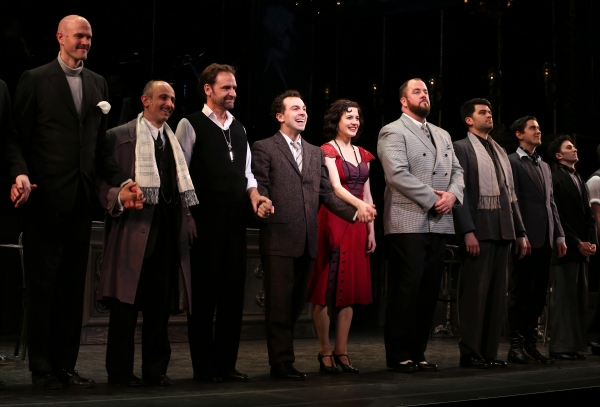 Zachary James, Stephen DeRodsa, Malcolm Gets, Rob McClure, Jennifer Bowles, Chris Sullivan, Ben Crawford, Sam Bolen and cast