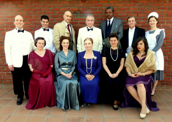 The Cast of Agatha Christie''s THE HOLLOW (Seated, from left) Kiah Gordon, Heather Barnett, Elaine Arnett, Jennifer Sperry, Samantha Barrios (Standing, from left) Dylan Bailey, David Tracq, Doug Mattingly, Jack Winnick, Darryl Maximilian Robinson, Harold