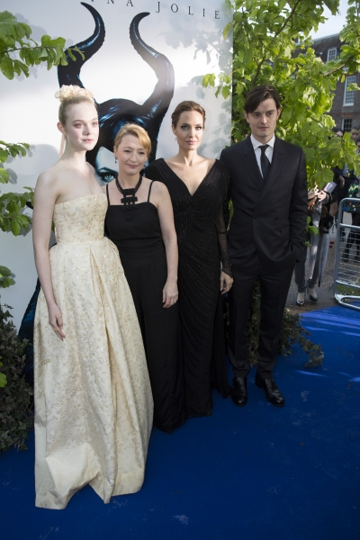 Elle Fanning, Lesley Manville, Angelina Jolie and Sam Riley