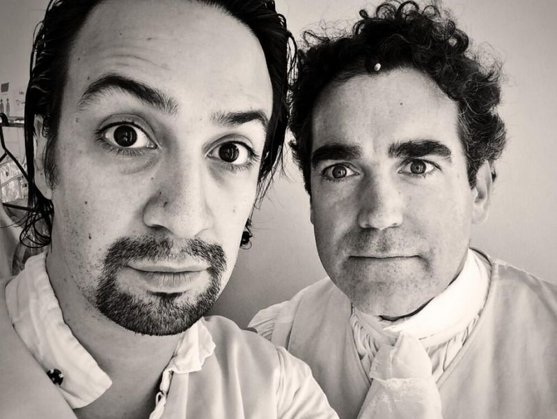Twitter Watch: Lin-Manuel Miranda & Brian d'Arcy James Tweet from HAMILTON Workshop