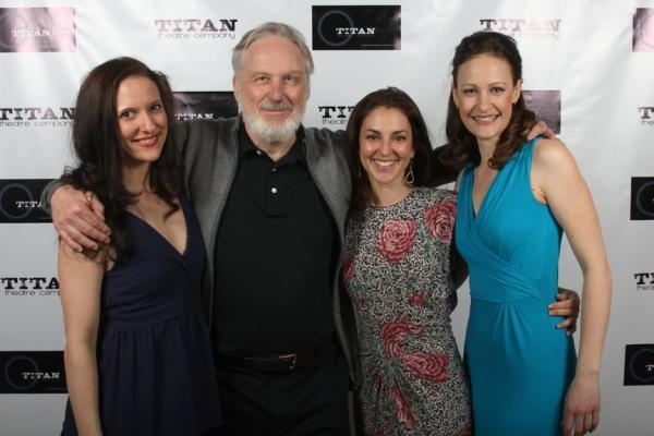 Laura Frye (Regan), Terry Layman (Lear) Susan Maris (Cordelia), and Leah Gabriel (Goneril)