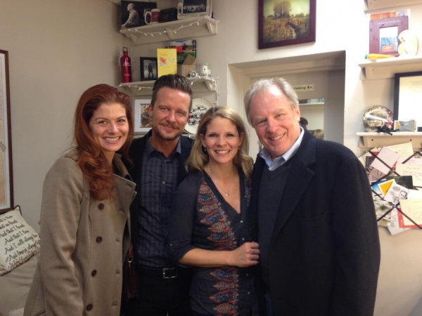 Photo Flash: Kristin Chenoweth, Debra Messing, Will Chase and Michael McKean Visit Kelli O'Hara at 'BRIDGES' on Broadway!