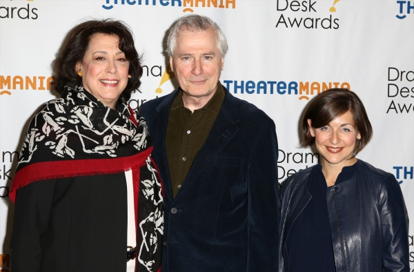 Manhattan Theatre Club artistic leaders Lynne Meadow (left) and Mandy Greenfield with playwright John Patrick Shanley