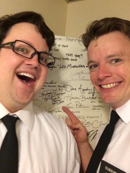 Photo Flash: Saturday Intermission Pics, 5/10, Part 2- MORMON Leaves Mark in LA, Max von Essen SIPs, and More!