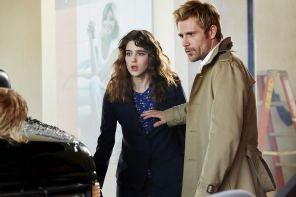 CONSTANTINE -- ''Pilot'' -- Pictured: (l-r) Lucy Griffiths as Liv, Matt Ryan as John Constantine -- (Photo by: Quantrell Colbert/NBC)