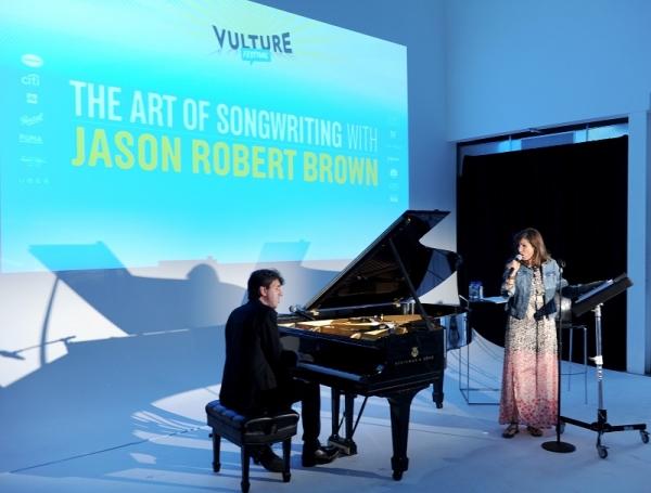 Photo Flash: Jason Robert Brown & Stephanie J. Block Perform at Vulture Festival
