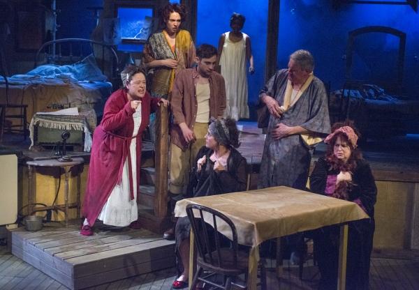 JoAnn Montemurro (Mrs. Wire), Eliza Stoughton (Jane), Ty Olwin (The Writer), Kristin  Photo