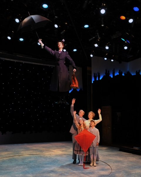 Lauren Blackman as Mary Poppins... Joe Dellger (as Mr. Banks), Leisa Mather (as Winif Photo