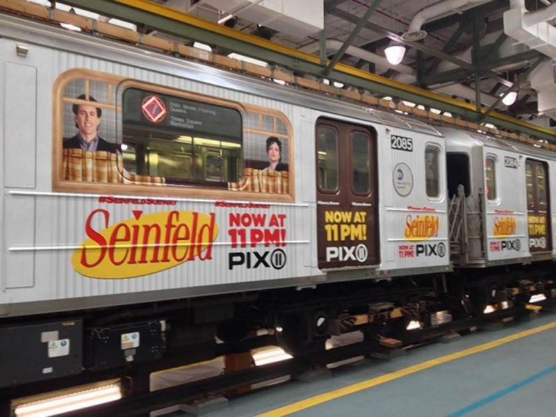 New York Subway Train Celebrates Iconic Series SEINFELD