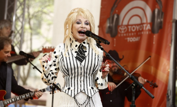 TODAY -- Pictured: Dolly Parton appears on NBC News'' ''Today'' show -- (Photo by: Peter Kramer/NBC)