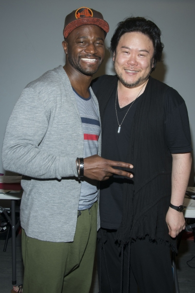 Taye Diggs and Stafford Arima