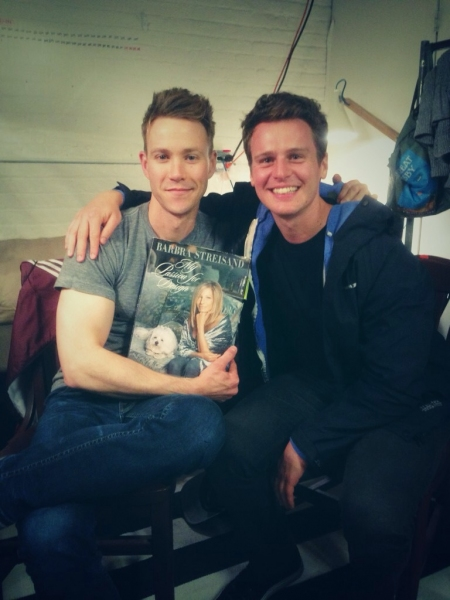 Photo Flash: Jonathan Groff Visits Christopher J Hanke at BUYER & CELLAR