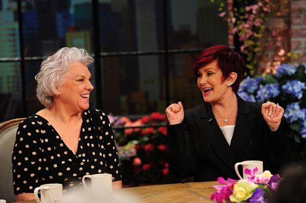 Emmy and Tony Award-winning actress Tyne Daly visits the ladies of  THE TALK from our New York, Wednesday, May 14, 2014 on the CBS Television Network. From left, Tyne Daly and Sharon Osbourne, shown. Photo: Heather Wines/CBS �© 2014 CBS Broadcasting