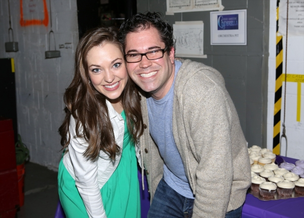Alumini Laura Osnes and Former musical director Andy Einhorn