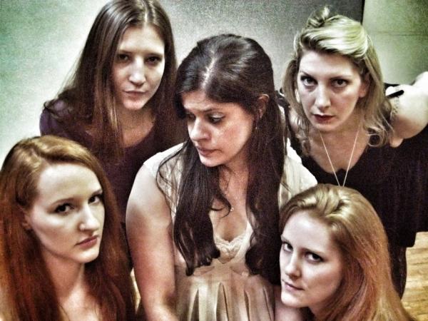 Amanda Marikar (Geli) surrounded by Jennifer Lynn Tune, Rachel Pfennigwerth, Ashley Lovell and Emilie Bienne  as Eva and Erna