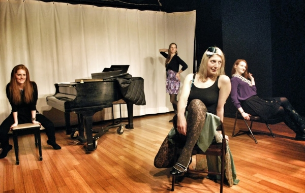Emilie Bienne, Rachel Pfennigwerth, Ashley Lovell,  and Jennifer Lynn Tune as Eva and Erna