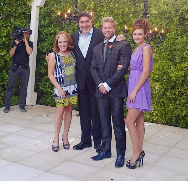 Celebrity fitness expert Craig Ramsay celebrated his wedding to celebrity hairstylist Brandon Liberati with former Fiddler on the Roof cast-mates Joy Hermalyn, Alfred Molina & Haviland Stillwell at the Riviera Palm Springs on May 11, 2014.