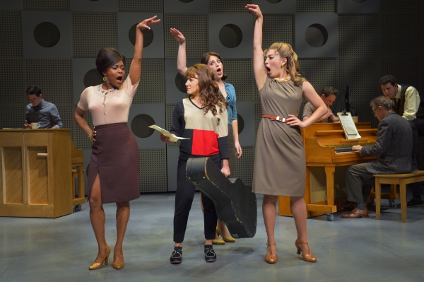 DeQuina Moore, Chloe Tucker, Hannah Corrigan and Kim Yu Blanck with the cast