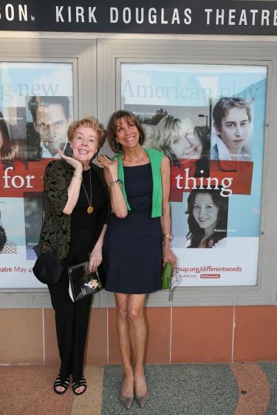 Actresses Georgia Engel and Wendie Malick