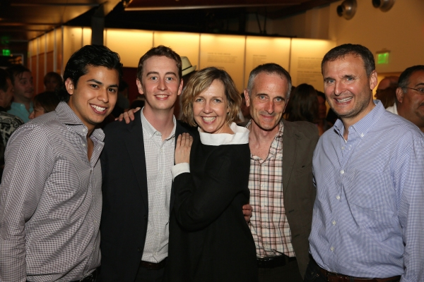 Cast members Erick Lopez, Stephen Ellis and Monica Horan, Director Neel Keller and TV writer/producer Philip Rosenthal
