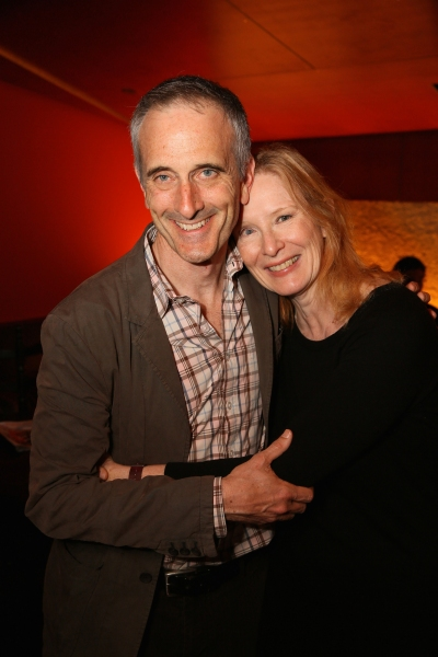 Director Neel Keller and actress Frances Conroy
