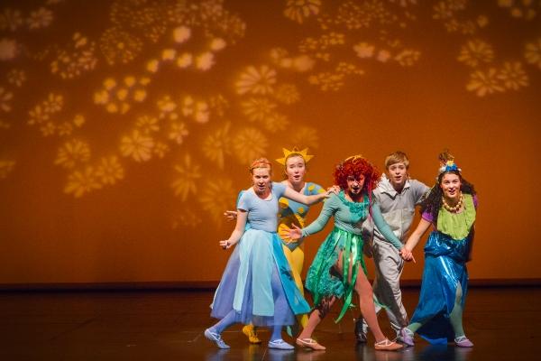 The kids celebrate after a terrific dance recital (l-r Annie Barker, Hannah Wilson, M Photo