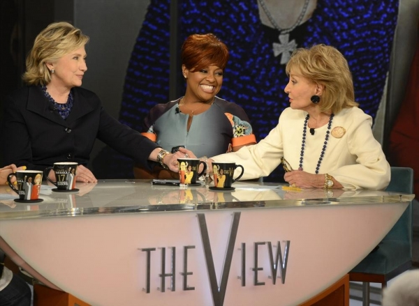 THE VIEW - Broadcasting legend Barbara Walters says goodbye to daily television with her final co-host appearance on THE VIEW, airing FRIDAY, MAY 16 (11am-12noon, ET) on the ABC Television Network. Hillary Clinton was a surprise guest.  (ABC/ Ida Mae Astu