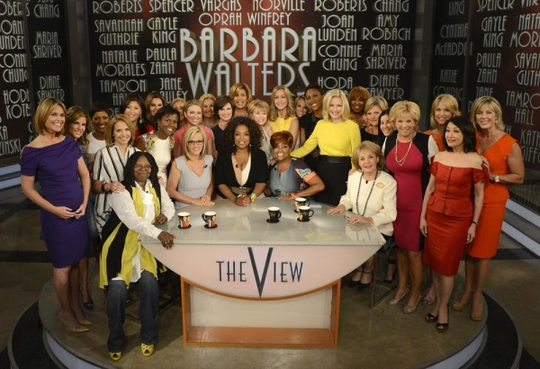 THE VIEW - Broadcasting legend Barbara Walters says goodbye to daily television with her final co-host appearance on THE VIEW, airing FRIDAY, MAY 16 (11am-12noon, ET) on the ABC Television Network.  A surprise appearance from Oprah Winfrey leads to one hi