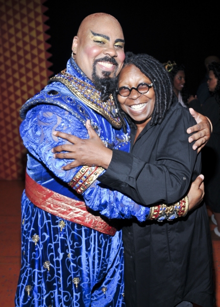 Photo Flash: Whoopi Goldberg Visits James Monroe Iglehart at ALADDIN!