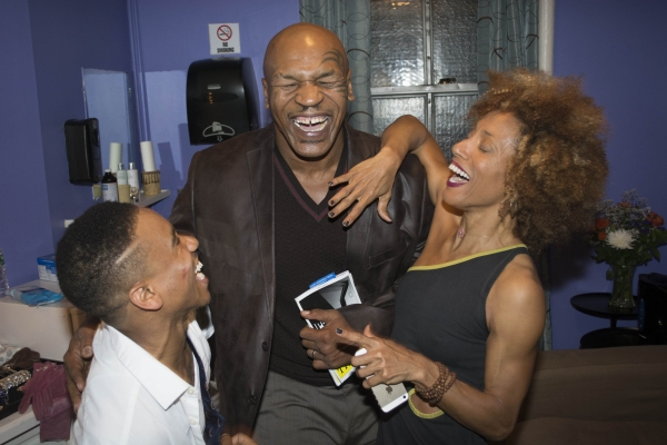 Virgil Gadson, Mike Tyson and Karine Plantadit Photo