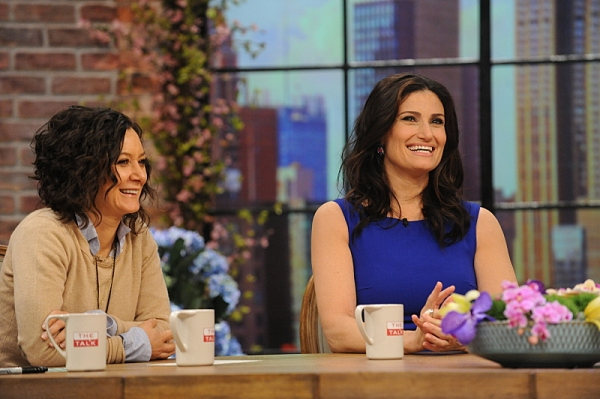 Sara Gilbert and Idina Menzel