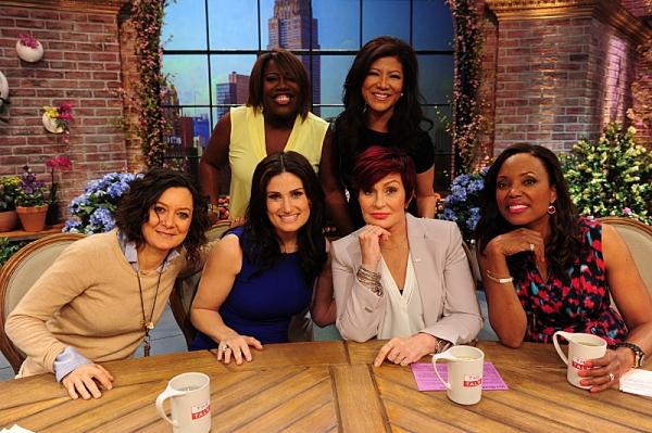 Sara Gilbert, Sheryl Underwood, Idina Menzel, Sharon Osbourne, Julie Chen and Aisha Tyler