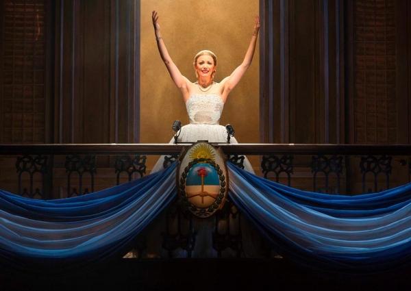 Caroline Bowman as Eva Peron