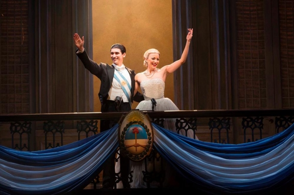 Sean Maclaughlin as Juan Peron and Caroline Bowman as Eva Peron
