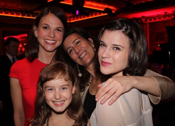 Sutton Foster, Jeanine Tesori, Alexandra Socha and Sydney Lucas