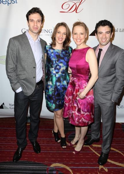 Jake Epstein, Jessie Mueller, Anika Larsen, and Jarrod Spector