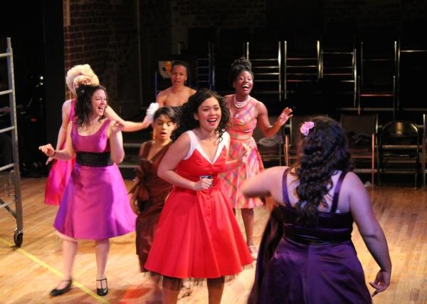 ''America'': Lora Nicolas as Anita, Cait Farrell as Rosalia, Shark Girls: Dina Grilli, Elizabeth Ukpe, Alyson Ryan Fuchs, Shary Cabrera, and Erika Brito