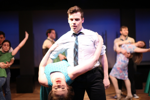 ''Cool'': Joe Bliss as Riff, Kristen Keim as Velma. Jet boys and girls in picture: Ja Photo