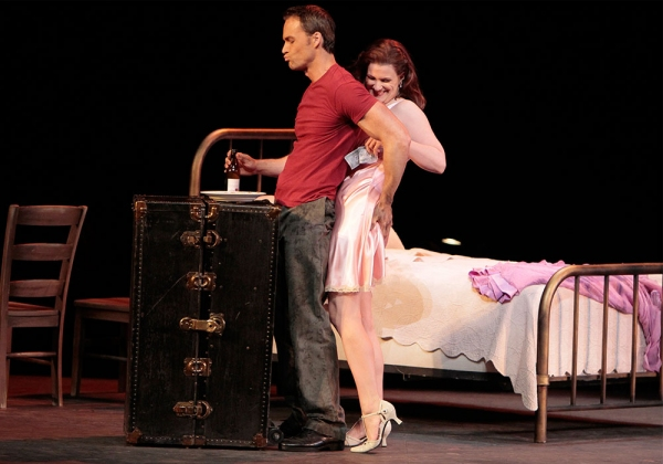 Ryan McKinny as Stanley and Stacey Tappan as Stella Photo